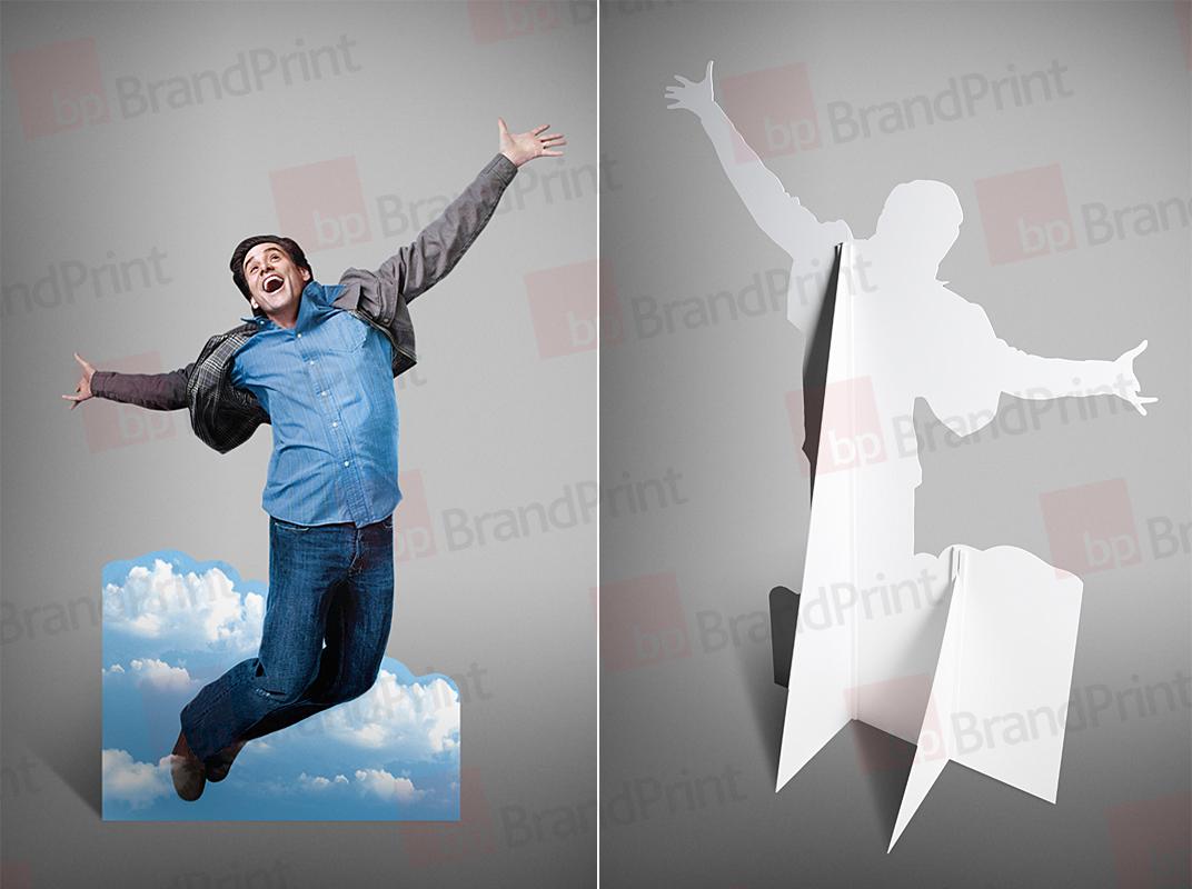 рекламные фигуры из картона