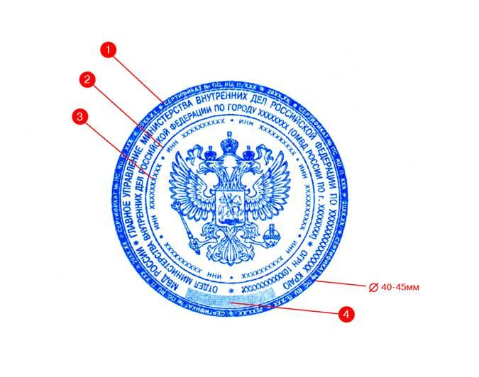 Гербовая печать Изготовление гербовой печати организации.